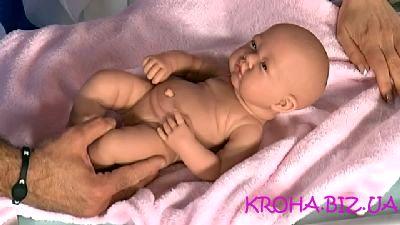 Как вытирать младенца?